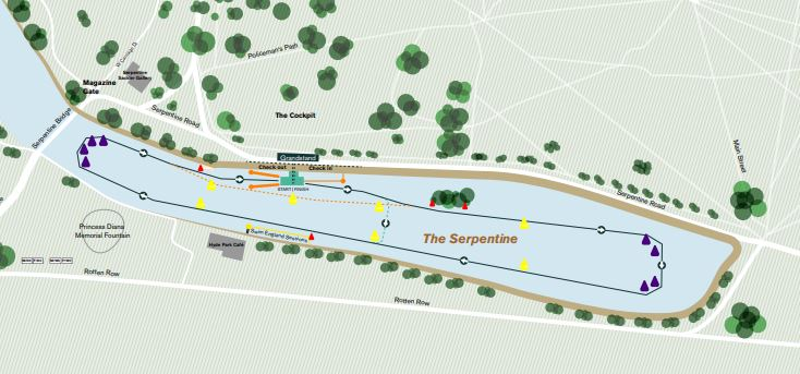 Route around the Serpentine